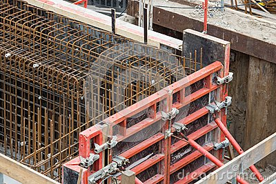 Steel bars for reinforced concrete foundation