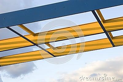 Steel Beams Stock Photo