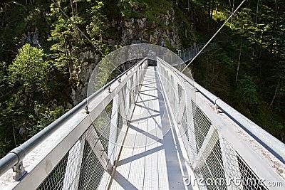 Steel Bridge crossing the Leutasch Gorge, Germany