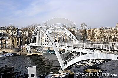 Steel Bridge on seine river