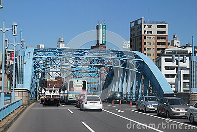 Steel bridge in Tokyo Japan Editorial Stock Image