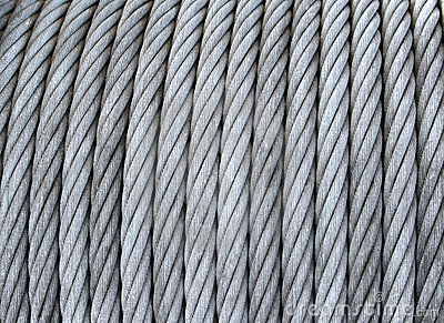 Steel cable on a coil