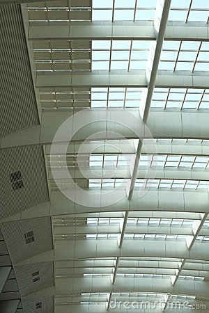 Steel Ceiling of Railway Station Architecture