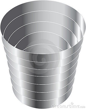 The steel cup for wine