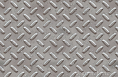 Steel diamond plate background