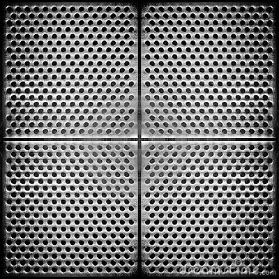 Steel dotted metal background