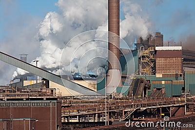 Steel factory in IJmuiden, the Netherlands