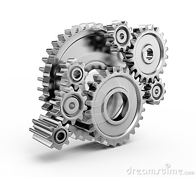 Free Steel Gear Wheels Royalty Free Stock Photos - 25897168