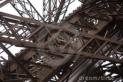 Steel girders of Eiffel Tower