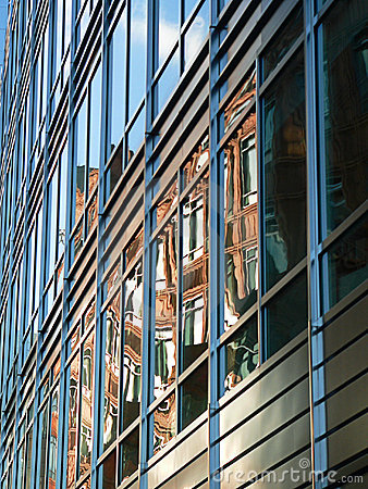 Steel and Glass Facade - Appold Street, London