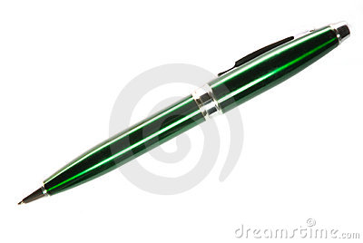Steel green pen