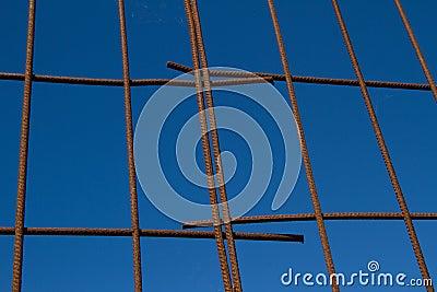 Steel grid.