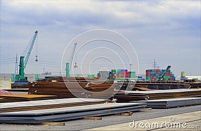 Steel in the harbor