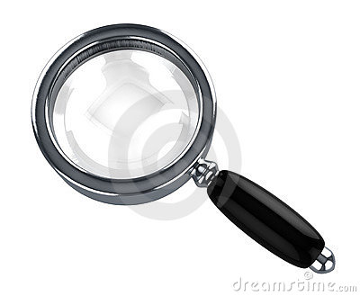 Steel magnify glass