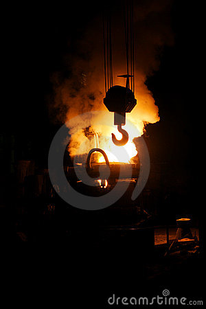 Steel Making And Crane Hook Stock Photos - Image: 8148063