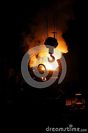 Steel making and crane hook