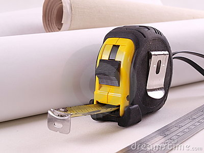 Steel Measuring Tape & Ruler with Paper Rolls