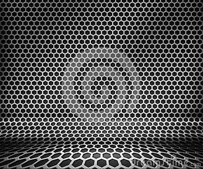 Steel Metal Hex Grid Background
