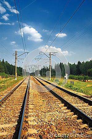 Free Steel Railroad Tracks Stock Photo - 6137570