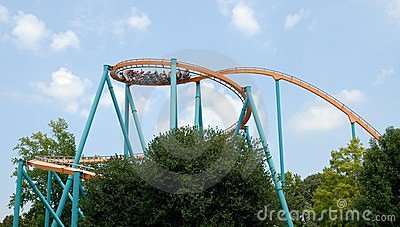 Steel Roller Coaster Stock Photo - Image: 20738420