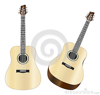 Steel Strings Acoustic Guitars Illustration