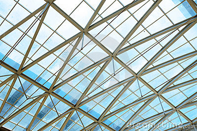 Steel structure and glass roof