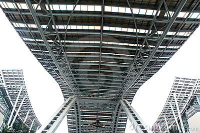 Steel structures sky bridge