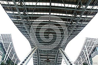 Steel structures sky bridge