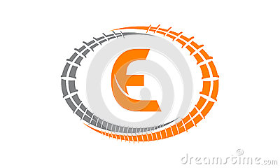Steel Supply Initial E Vector Illustration