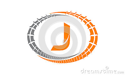 Steel Supply Initial J Vector Illustration