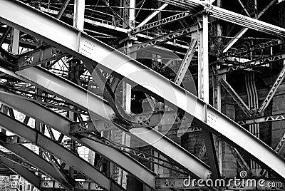 Steel Supports under the Brooklyn Bridge