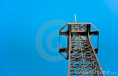 Steel telecommunication tower top