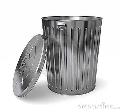 Steel Trash Can Lid Off Stock Photos Image 13528103