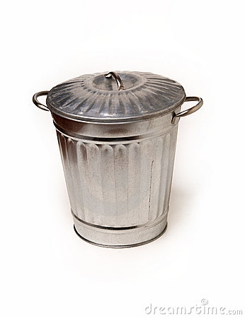 Steel trash garbage can bin