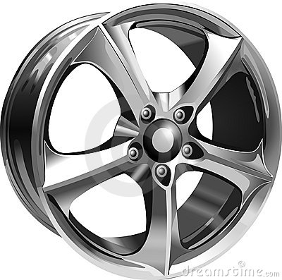 Free Steel Wheel Royalty Free Stock Image - 542106