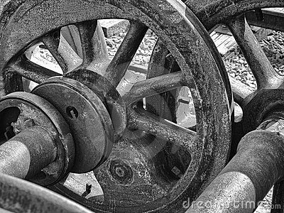 Steel Wheels Abstract