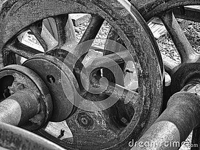 Steel Wheels Abstract