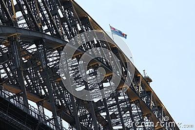 Steel work bridge construction