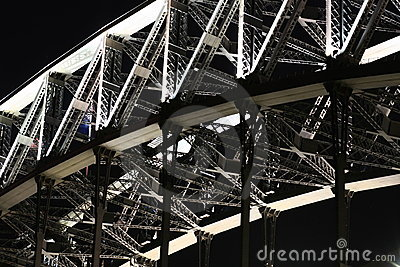 Steel work on Sydney Harbour Bridge