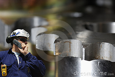 Steel worker and gears