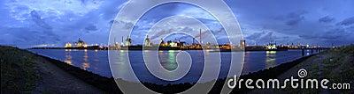 Steel works skyline