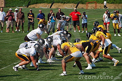 Steeler Practice Editorial Stock Photo