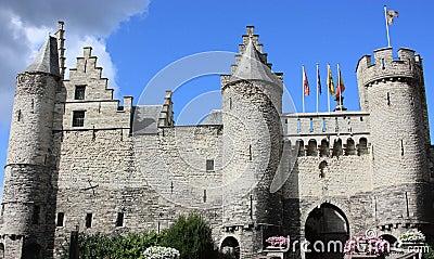 Steen castle in Antwerp, Belgium