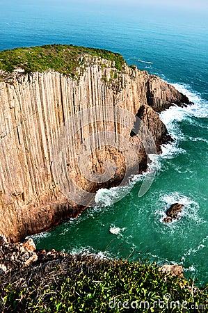 Steep cliff sea