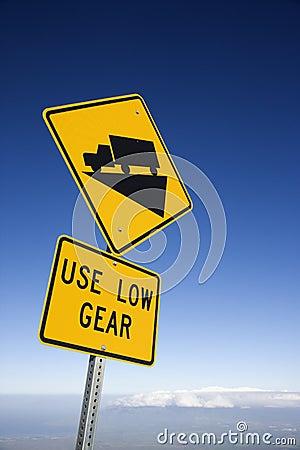 Steep grade truck sign, Maui, Hawaii.