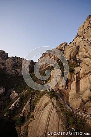 Steep mountain Huangshan