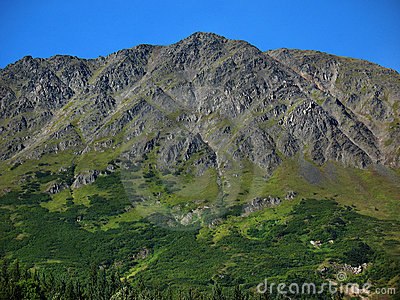 Steep Rugged Mountain on the Kenai Peninsula