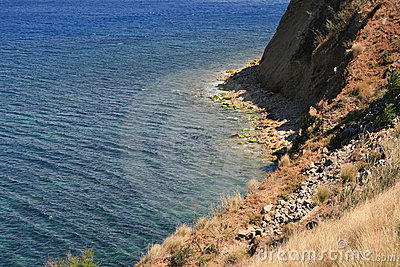 Steep slope on mediterranean coast