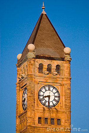 Steeple and clock