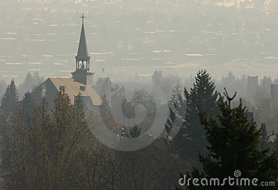 Steeple in Fog